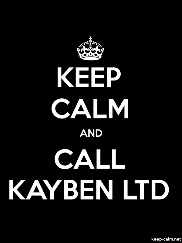 KEEP CALM AND CALL KAYBEN LTD - white/black - Default (600x800)