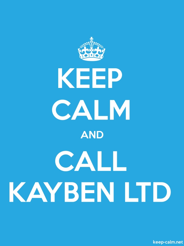 KEEP CALM AND CALL KAYBEN LTD - white/blue - Default (600x800)