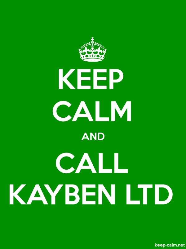 KEEP CALM AND CALL KAYBEN LTD - white/green - Default (600x800)