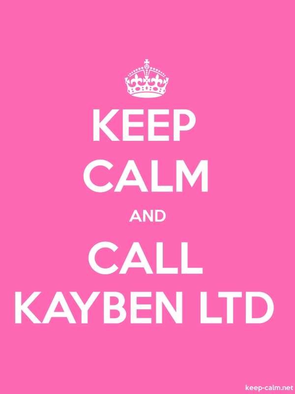 KEEP CALM AND CALL KAYBEN LTD - white/pink - Default (600x800)