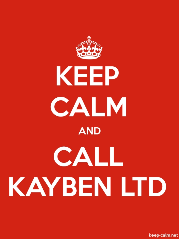 KEEP CALM AND CALL KAYBEN LTD - white/red - Default (600x800)