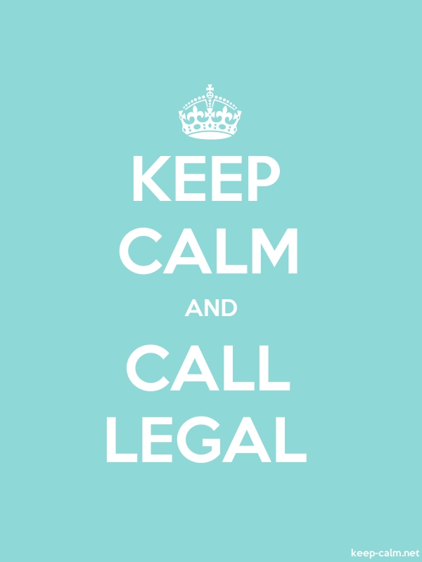 KEEP CALM AND CALL LEGAL - white/lightblue - Default (600x800)