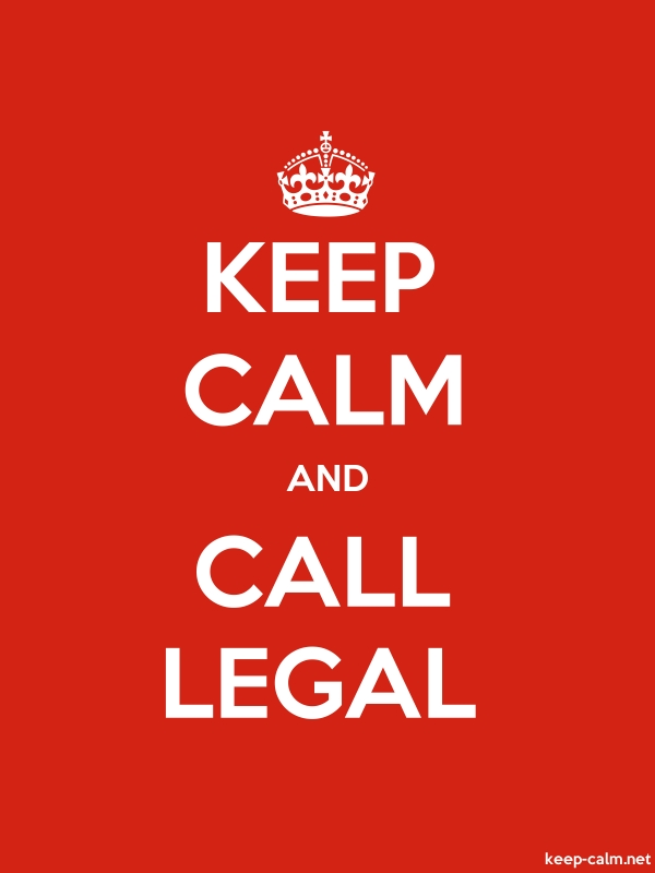 KEEP CALM AND CALL LEGAL - white/red - Default (600x800)