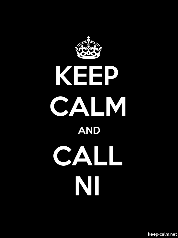 KEEP CALM AND CALL NI - white/black - Default (600x800)