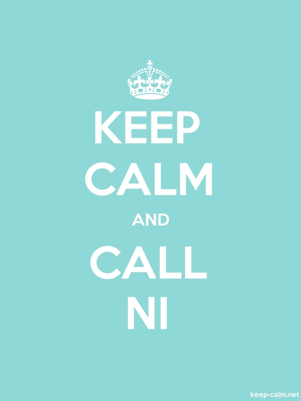 KEEP CALM AND CALL NI - white/lightblue - Default (600x800)