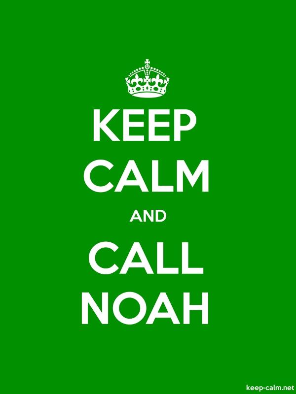 KEEP CALM AND CALL NOAH - white/green - Default (600x800)
