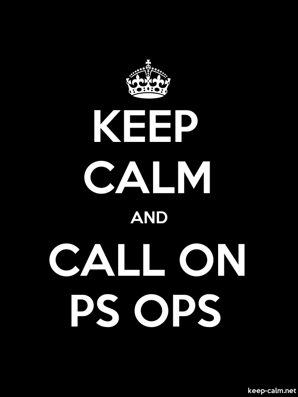 KEEP CALM AND CALL ON PS OPS - white/black - Default (600x800)