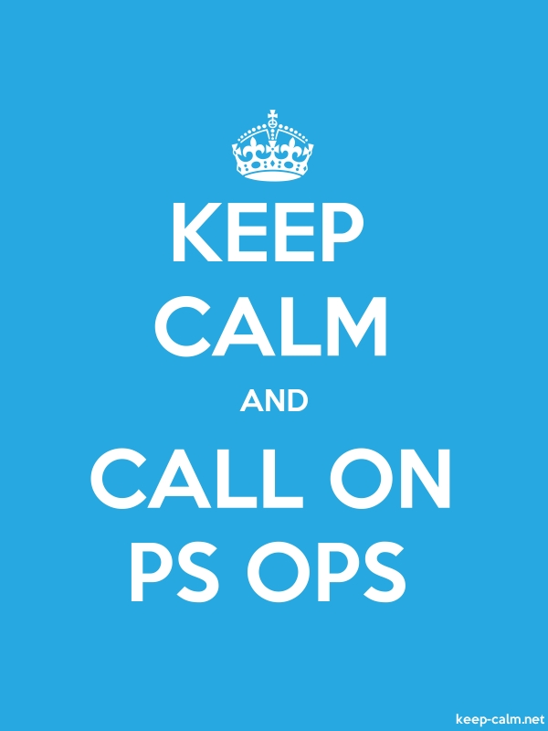 KEEP CALM AND CALL ON PS OPS - white/blue - Default (600x800)