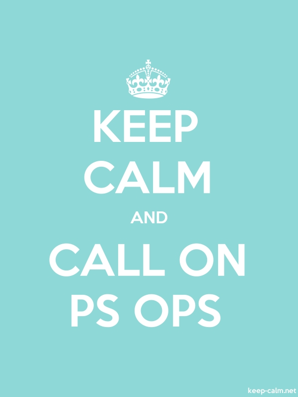 KEEP CALM AND CALL ON PS OPS - white/lightblue - Default (600x800)
