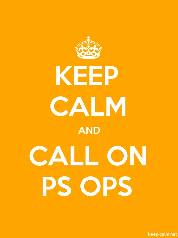 KEEP CALM AND CALL ON PS OPS - white/orange - Default (600x800)