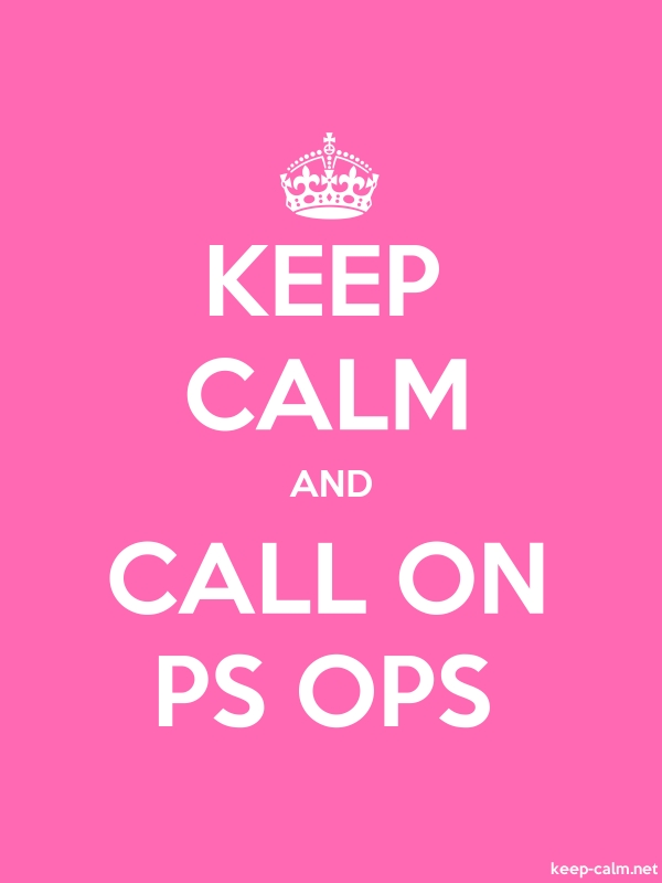 KEEP CALM AND CALL ON PS OPS - white/pink - Default (600x800)
