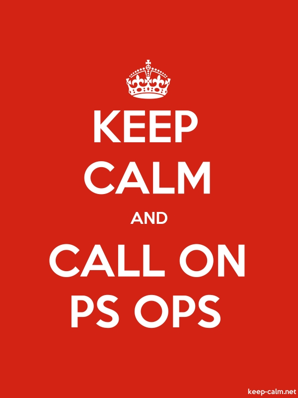 KEEP CALM AND CALL ON PS OPS - white/red - Default (600x800)
