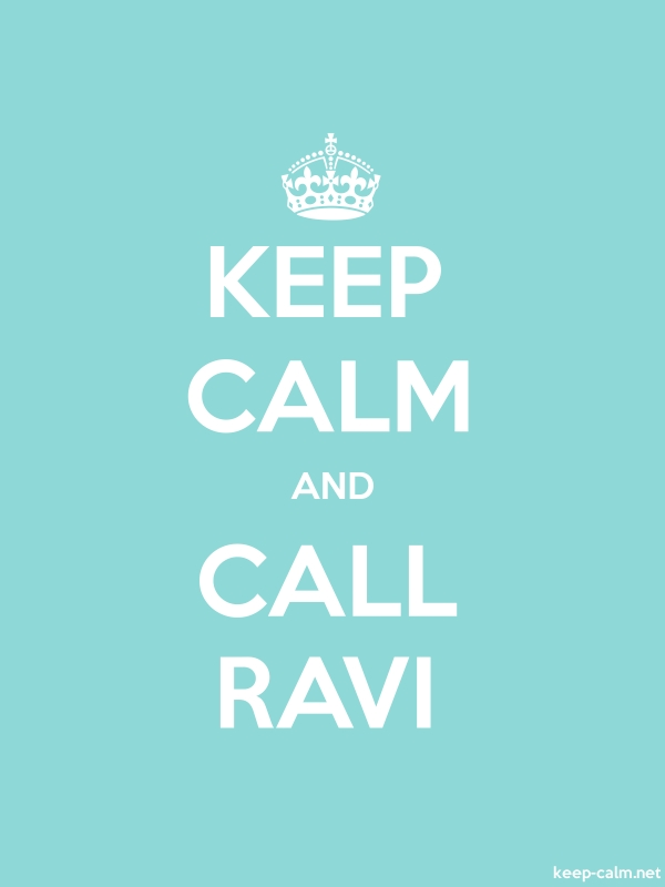 KEEP CALM AND CALL RAVI - white/lightblue - Default (600x800)