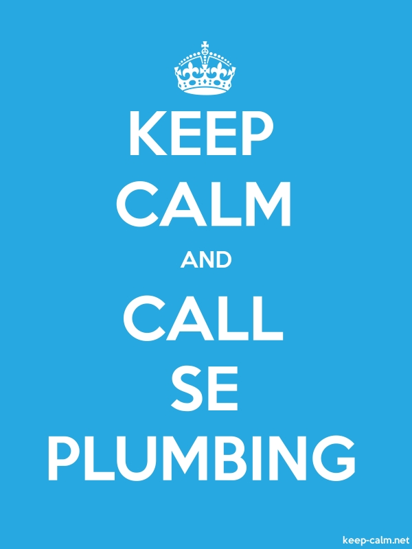 KEEP CALM AND CALL SE PLUMBING - white/blue - Default (600x800)