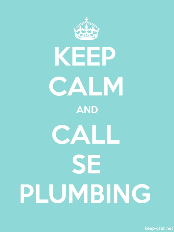 KEEP CALM AND CALL SE PLUMBING - white/lightblue - Default (600x800)