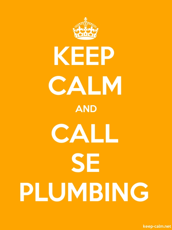 KEEP CALM AND CALL SE PLUMBING - white/orange - Default (600x800)