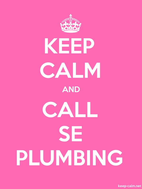 KEEP CALM AND CALL SE PLUMBING - white/pink - Default (600x800)