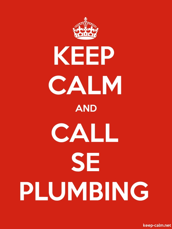 KEEP CALM AND CALL SE PLUMBING - white/red - Default (600x800)