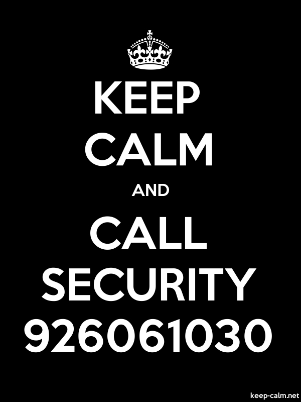 KEEP CALM AND CALL SECURITY 926061030 - white/black - Default (600x800)