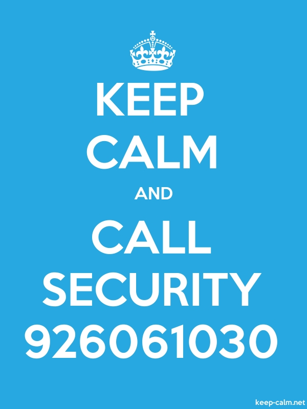 KEEP CALM AND CALL SECURITY 926061030 - white/blue - Default (600x800)