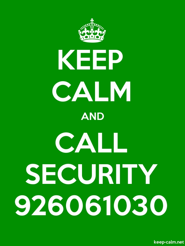 KEEP CALM AND CALL SECURITY 926061030 - white/green - Default (600x800)
