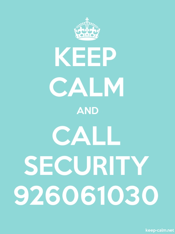 KEEP CALM AND CALL SECURITY 926061030 - white/lightblue - Default (600x800)