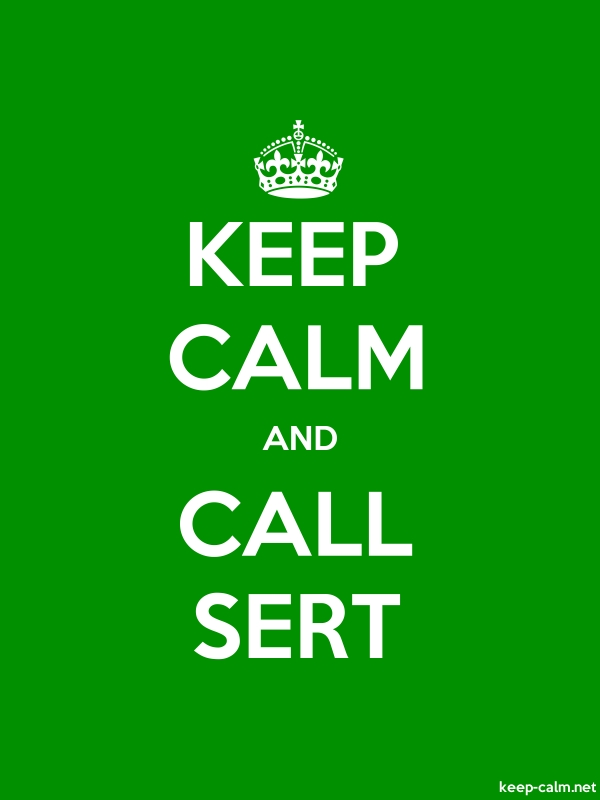 KEEP CALM AND CALL SERT - white/green - Default (600x800)