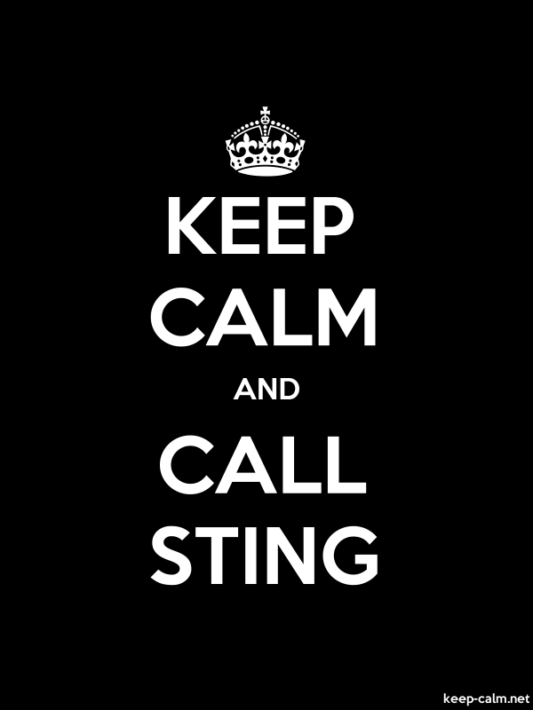 KEEP CALM AND CALL STING - white/black - Default (600x800)