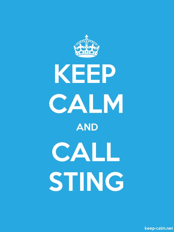 KEEP CALM AND CALL STING - white/blue - Default (600x800)