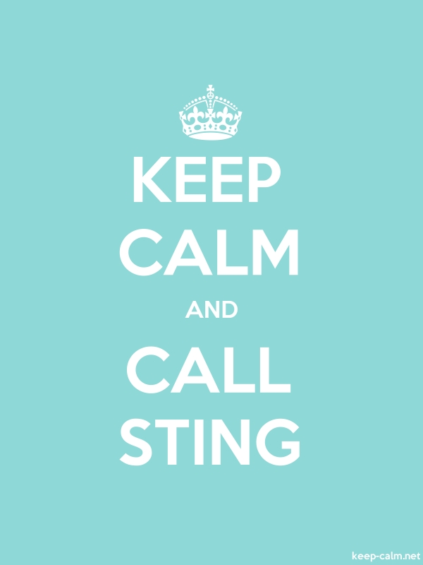 KEEP CALM AND CALL STING - white/lightblue - Default (600x800)