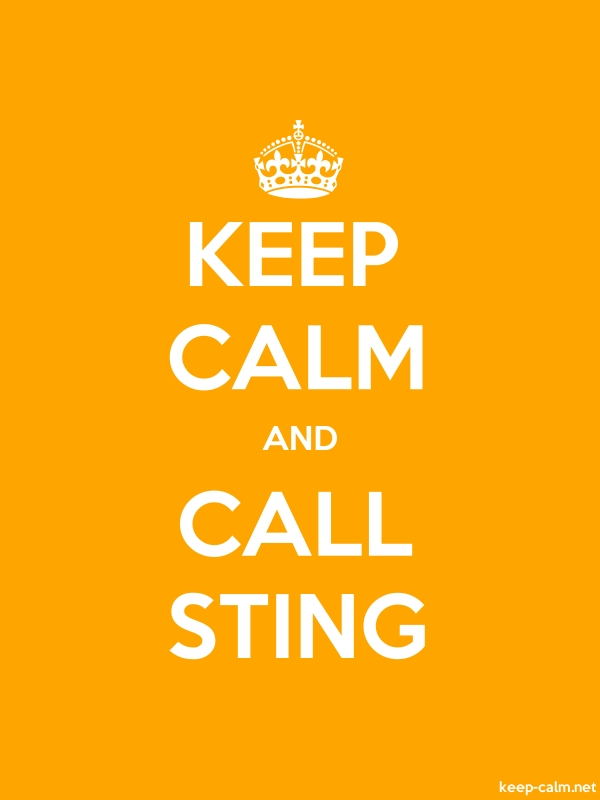 KEEP CALM AND CALL STING - white/orange - Default (600x800)