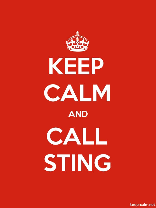 KEEP CALM AND CALL STING - white/red - Default (600x800)