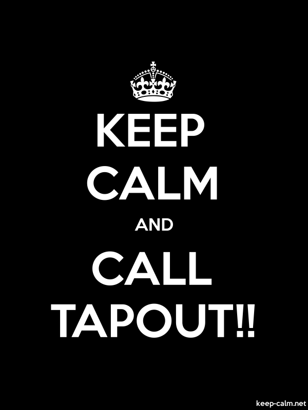 KEEP CALM AND CALL TAPOUT!! - white/black - Default (600x800)