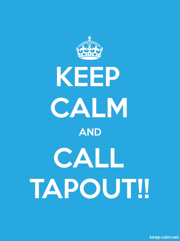 KEEP CALM AND CALL TAPOUT!! - white/blue - Default (600x800)