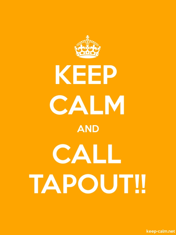 KEEP CALM AND CALL TAPOUT!! - white/orange - Default (600x800)