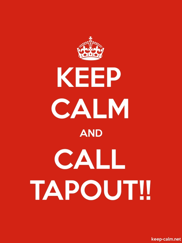 KEEP CALM AND CALL TAPOUT!! - white/red - Default (600x800)