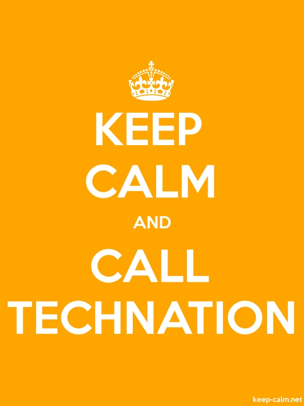 KEEP CALM AND CALL TECHNATION - white/orange - Default (600x800)