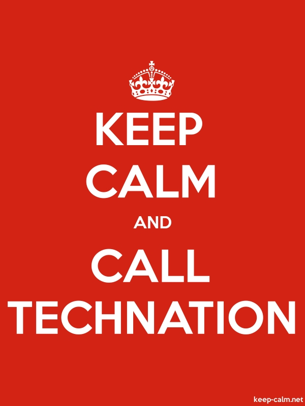 KEEP CALM AND CALL TECHNATION - white/red - Default (600x800)