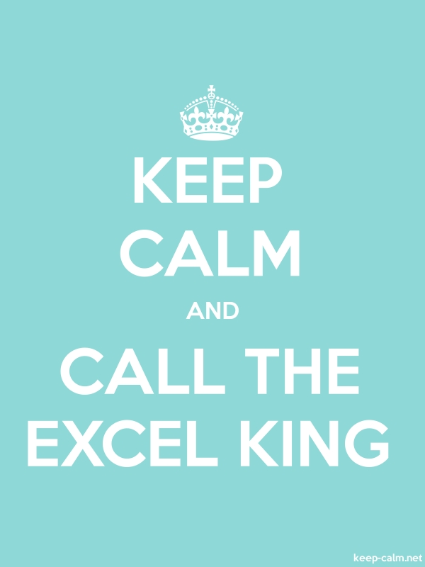 KEEP CALM AND CALL THE EXCEL KING - white/lightblue - Default (600x800)
