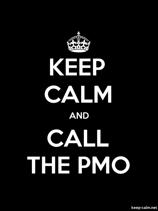 KEEP CALM AND CALL THE PMO - white/black - Default (600x800)