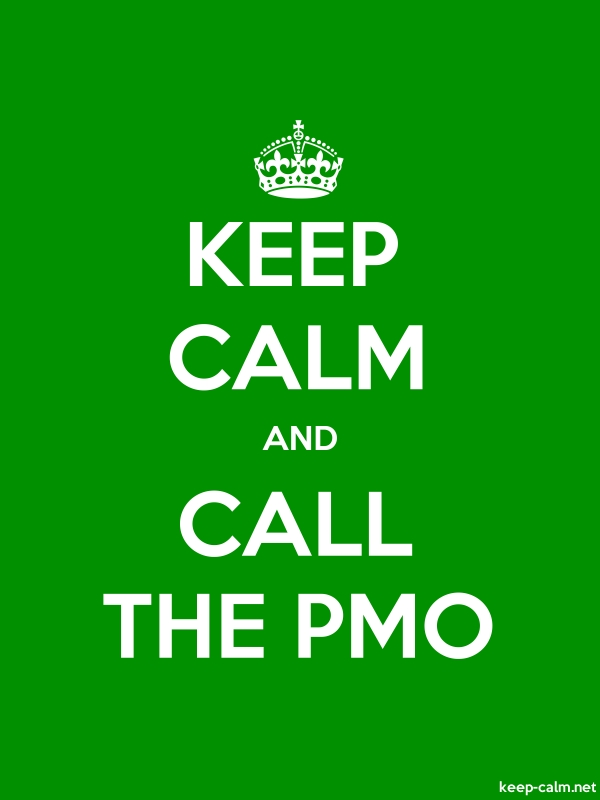 KEEP CALM AND CALL THE PMO - white/green - Default (600x800)