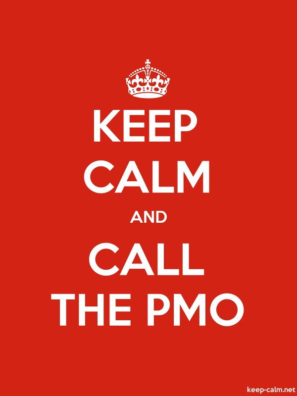 KEEP CALM AND CALL THE PMO - white/red - Default (600x800)
