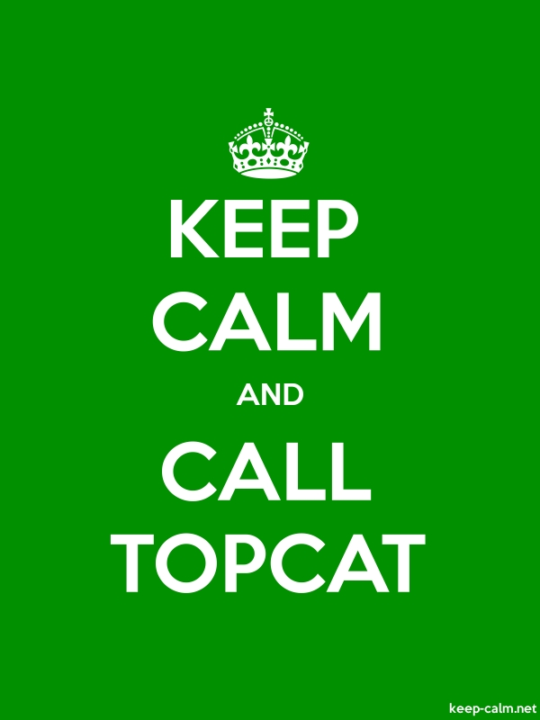 KEEP CALM AND CALL TOPCAT - white/green - Default (600x800)