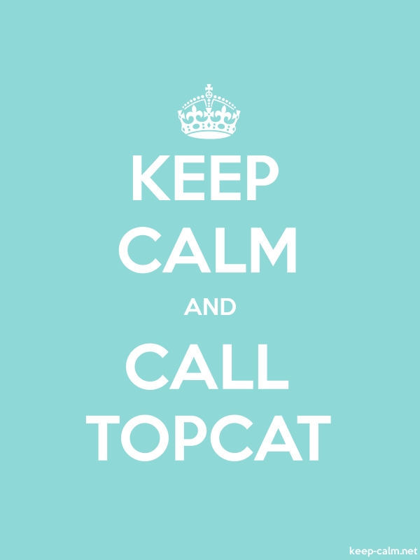 KEEP CALM AND CALL TOPCAT - white/lightblue - Default (600x800)
