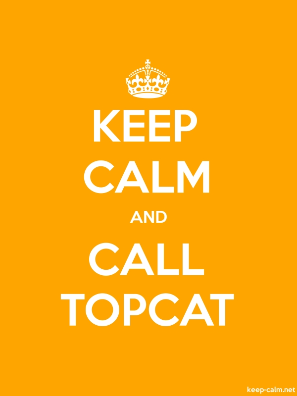 KEEP CALM AND CALL TOPCAT - white/orange - Default (600x800)