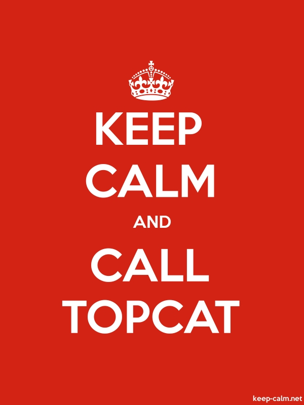 KEEP CALM AND CALL TOPCAT - white/red - Default (600x800)