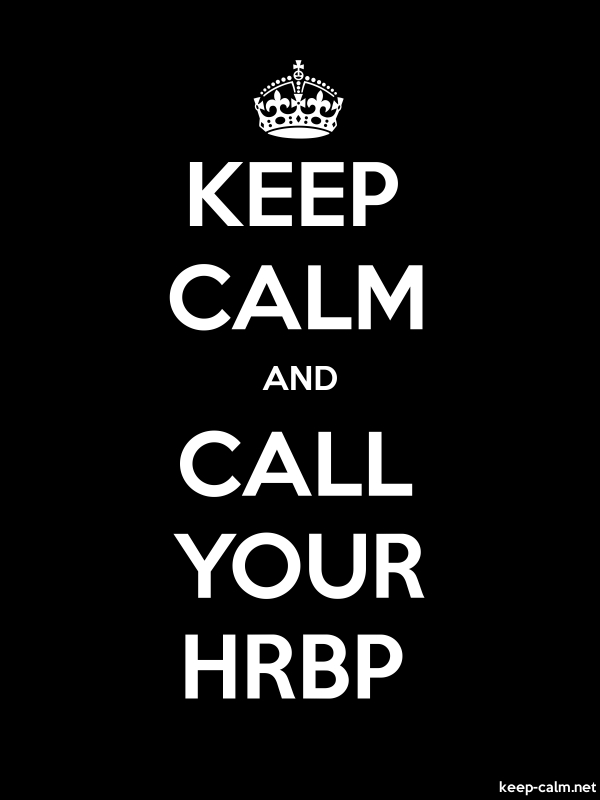 KEEP CALM AND CALL YOUR HRBP - white/black - Default (600x800)