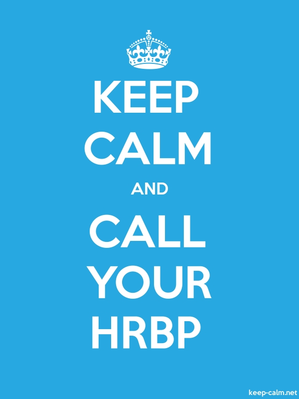 KEEP CALM AND CALL YOUR HRBP - white/blue - Default (600x800)