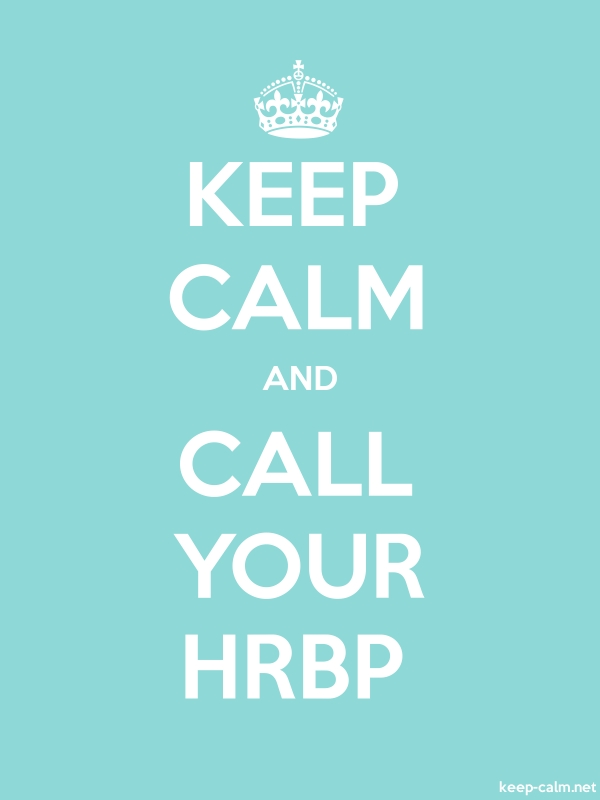 KEEP CALM AND CALL YOUR HRBP - white/lightblue - Default (600x800)