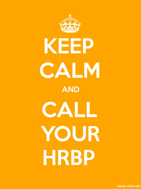 KEEP CALM AND CALL YOUR HRBP - white/orange - Default (600x800)